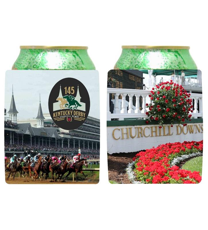 Kentucky Derby 145 Collapsible Coozie,#45467 COLLAPSIBLE