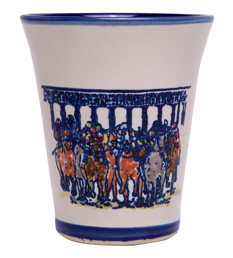 Starting Gate Julep Cup by Louisville Stoneware,STARTING JULEP EX