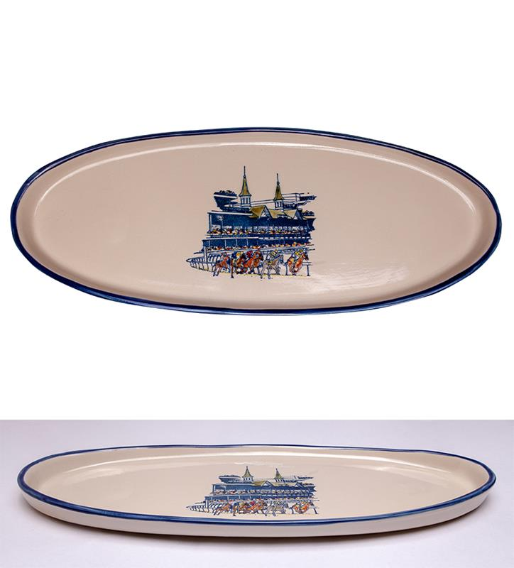 Grandstand Platter by Louisville Stoneware,GRAND PLATTER EX