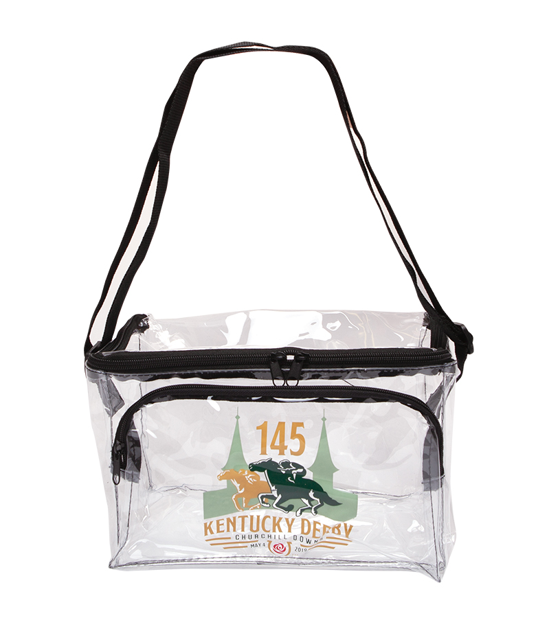 Kentucky Derby 145 Clear Zippered Lunch Tote,9KTGDLC LUNCH TOTE