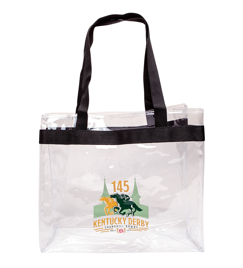 Kentucky Derby 145 Clear Game Day Tote,9KTGDCC CARRY ALL