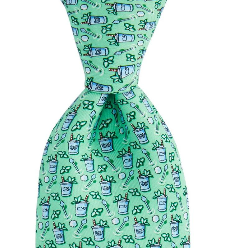 Kentucky Derby 2019 Mint Julep Tie,Kentucky Derby 145-2019 Vineyard Vines Collection,1T000165-305 MOJITO