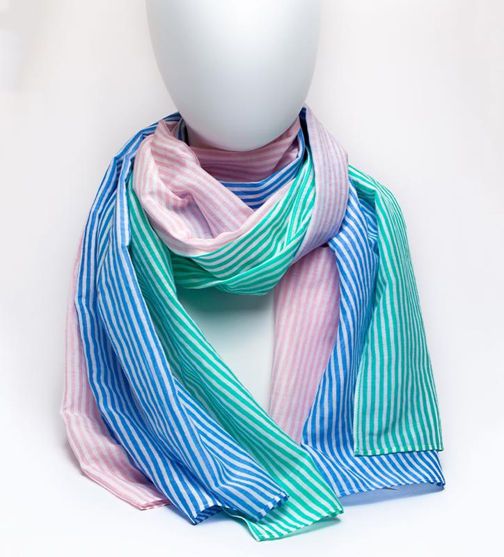 Kentucky Derby 2019 Striped Scarf,Kentucky Derby 145-2019 Vineyard Vines Collection,2A000025 MULTI