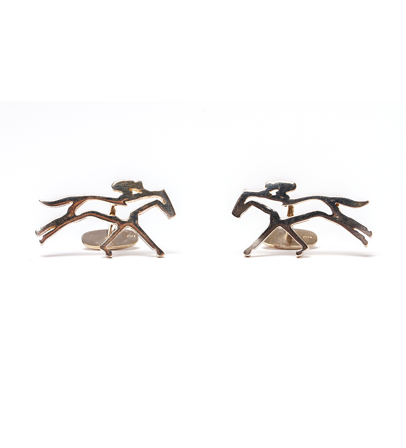 542-18 Horse and Jockey(modern)Cufflinks,Darren K. Moore,542-18 CUFFLINK
