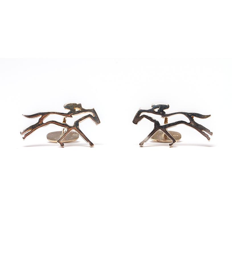 542-18 Horse and Jockey(modern)Cufflinks,Darren K. Moore,542-18 CUFFLINK