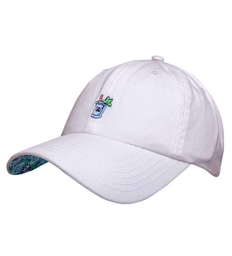 Kentucky Derby 2019 Mint Julep Twill Ballcap,Kentucky Derby 145-2019 Vineyard Vines Collection,1F000043 WHITE CAP