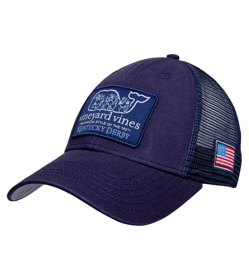 Kentucky Derby 2019 Horse Race Ballcap,Kentucky Derby 145-2019 Vineyard Vines Collection,1F000045 VINEYARD NA