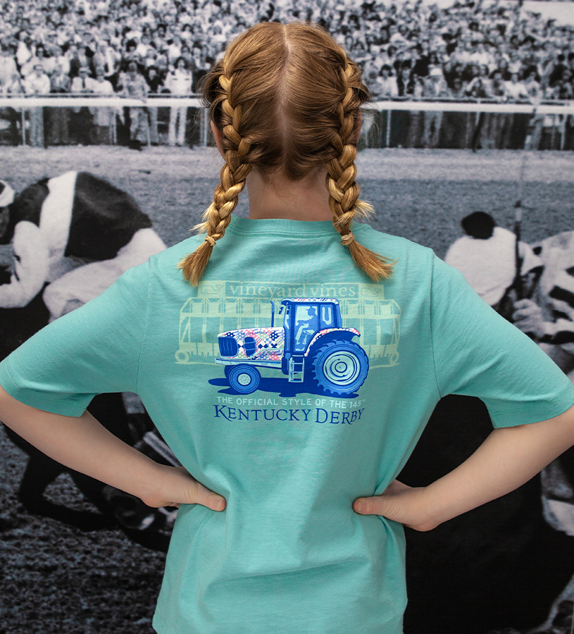 Kentucky Derby 2019 Kid's Tractor Tee,Kentucky Derby 145-2019 Vineyard Vines Collection,3V000050 GREENWICH
