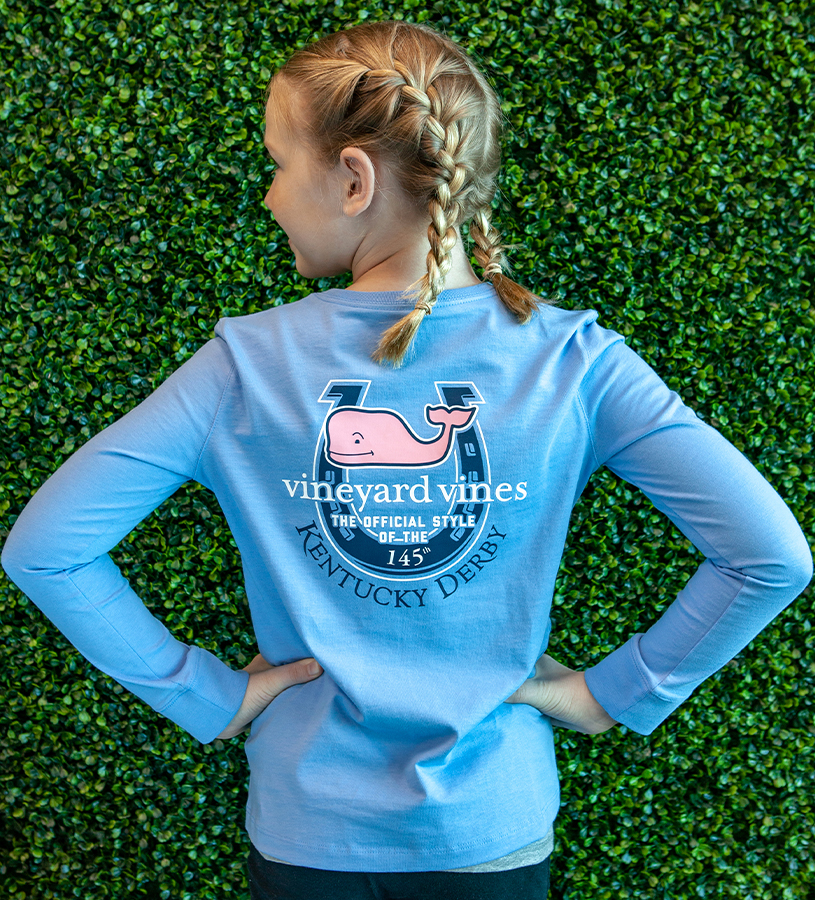 Kentucky Derby 2019 Girl's HorseshoeTee,Kentucky Derby 145-2019 Vineyard Vines Collection,7V000042 BLUE BLAZER