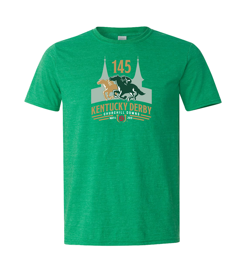 Kentucky Derby 145 Official Logo Tee,9KTHG HEATHER GREEN