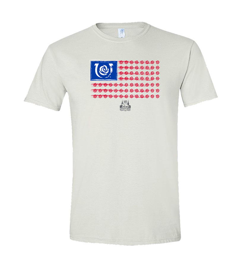 Kentucky Derby 145 Iconic Flag Tee,9KTIFW WHITE