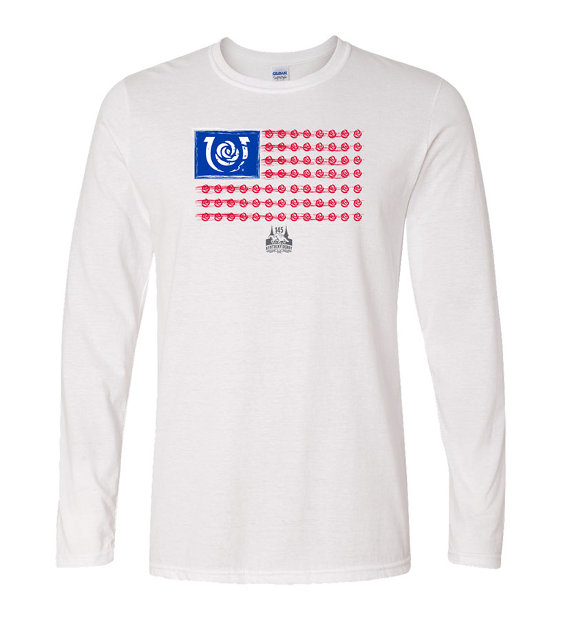 Kentucky Derby 145 Iconic Flag Long-Sleeved Tee,9KTLSIFW WHITE