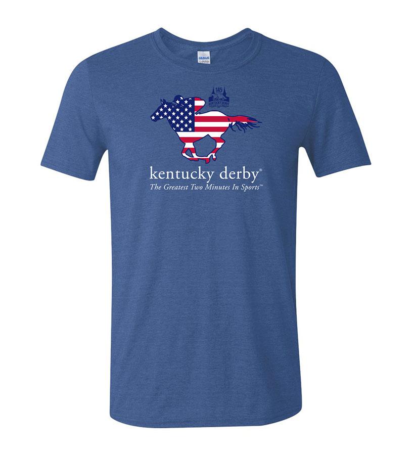 Kentucky Derby 145 Stars & Stripes Tee,9KTSSHRB HEATHER ROY