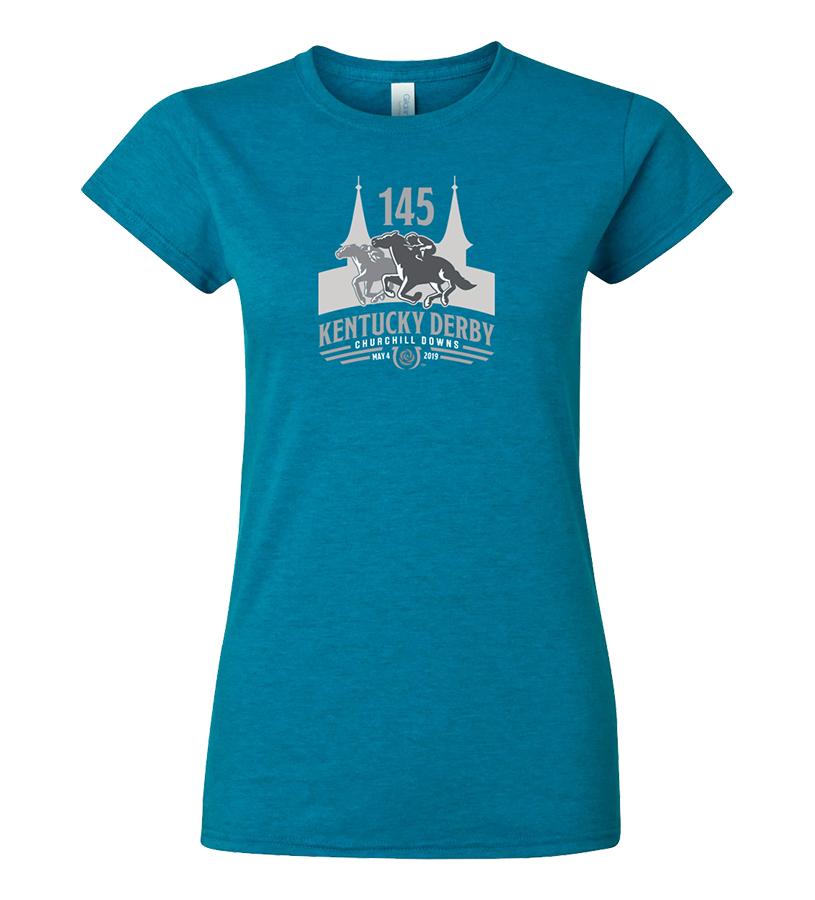 Kentucky Derby 145 Ladies' Tonal Tee,9KLTTAS SAPPHIRE