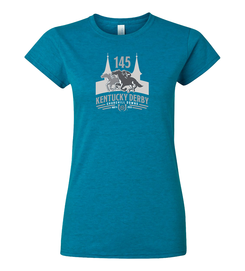 Kentucky Derby 145 Ladies' Tonal Tee,9KLTTAS SAPPHIRE