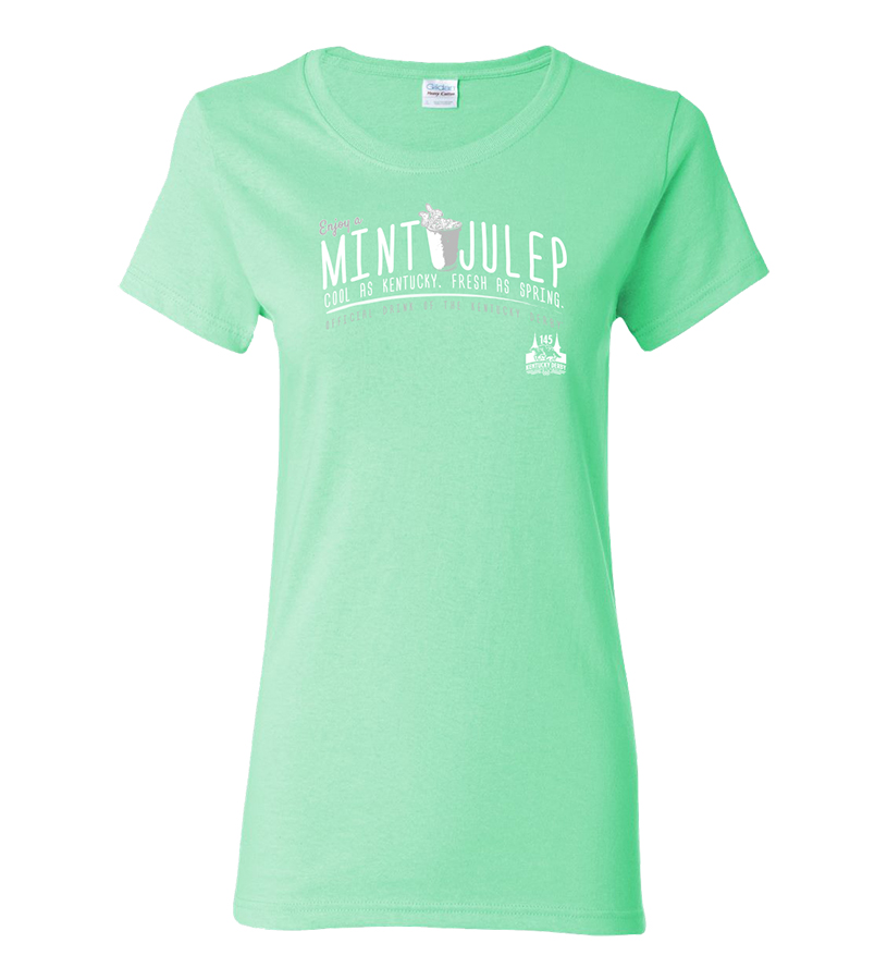 Kentucky Derby 145 Ladies' Mint Julep Tee,Chocolate & Mint,9KLTMJMG MINT