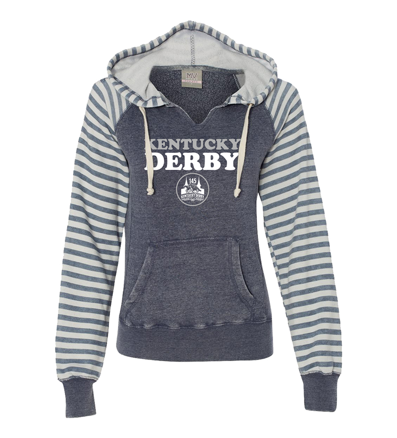 Kentucky Derby 145 Ladies' Angel Fleece Hoodie,9KLHSAFSDB DEEP BLUE