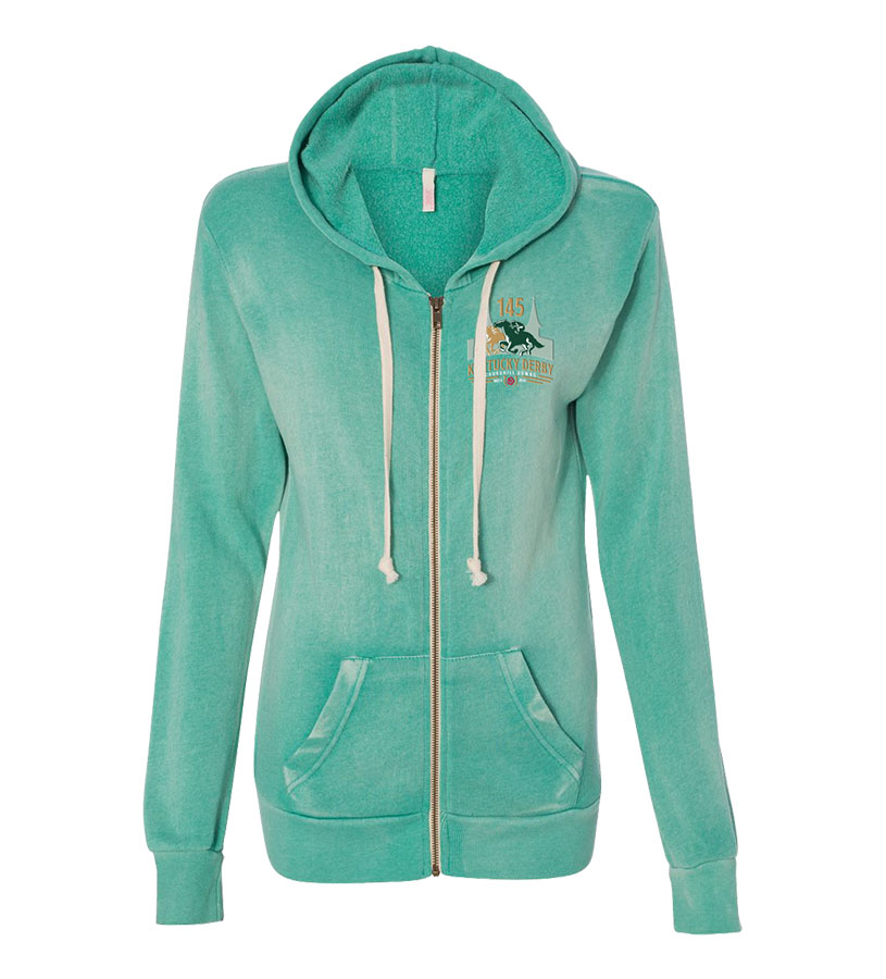 Kentucky Derby 145 Ladies' Angel Fleece Full-Zip,9KLZHSAFJ JADE