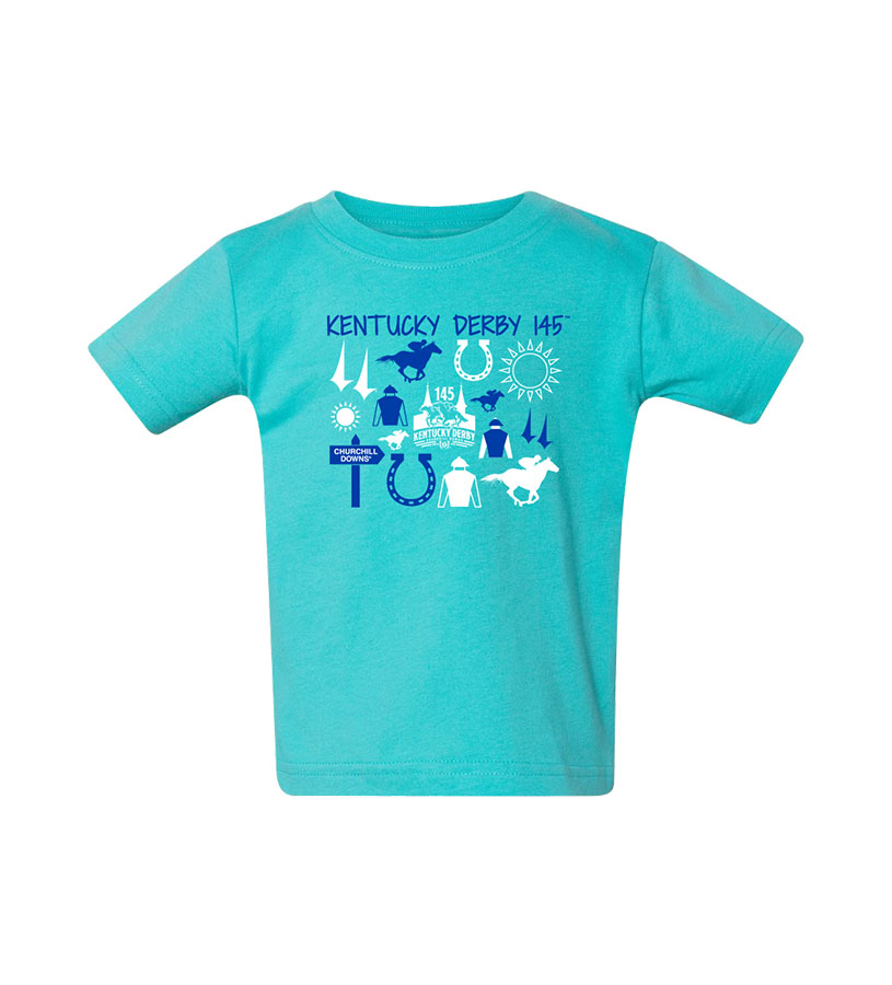 Kentucky Derby 145 Infant Iconic Tee,9KTICB CARIBBEAN