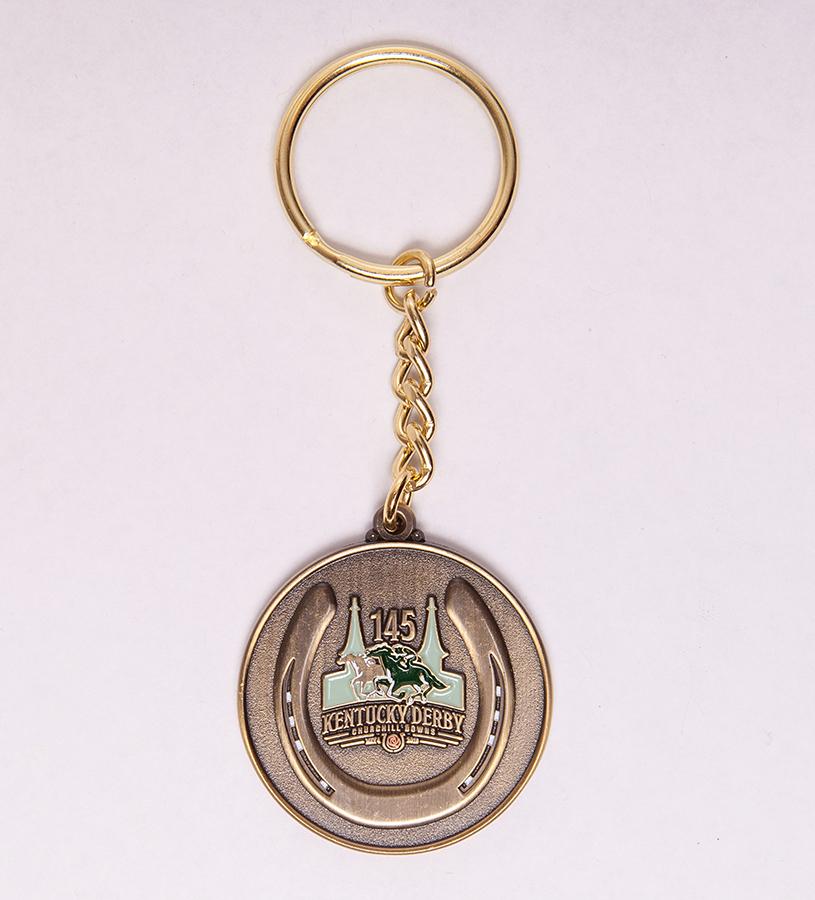 Kentucky Derby 145 Coin Key Ring,9KDCK GOLD METAL