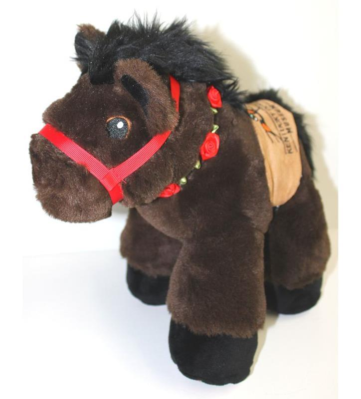 Dark Brown Saddle Horse with Garland,DARK BROWN SADDLE