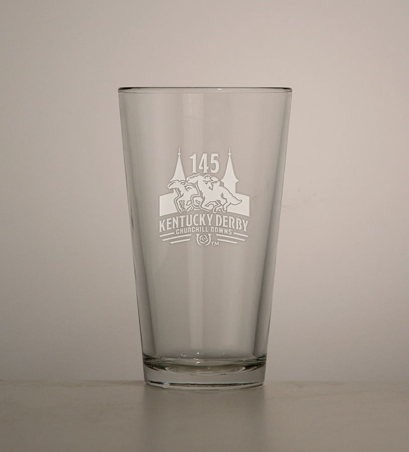 Kentucky Derby 145 Etched Ale Glass,01-355 LT ETCH 16OZ
