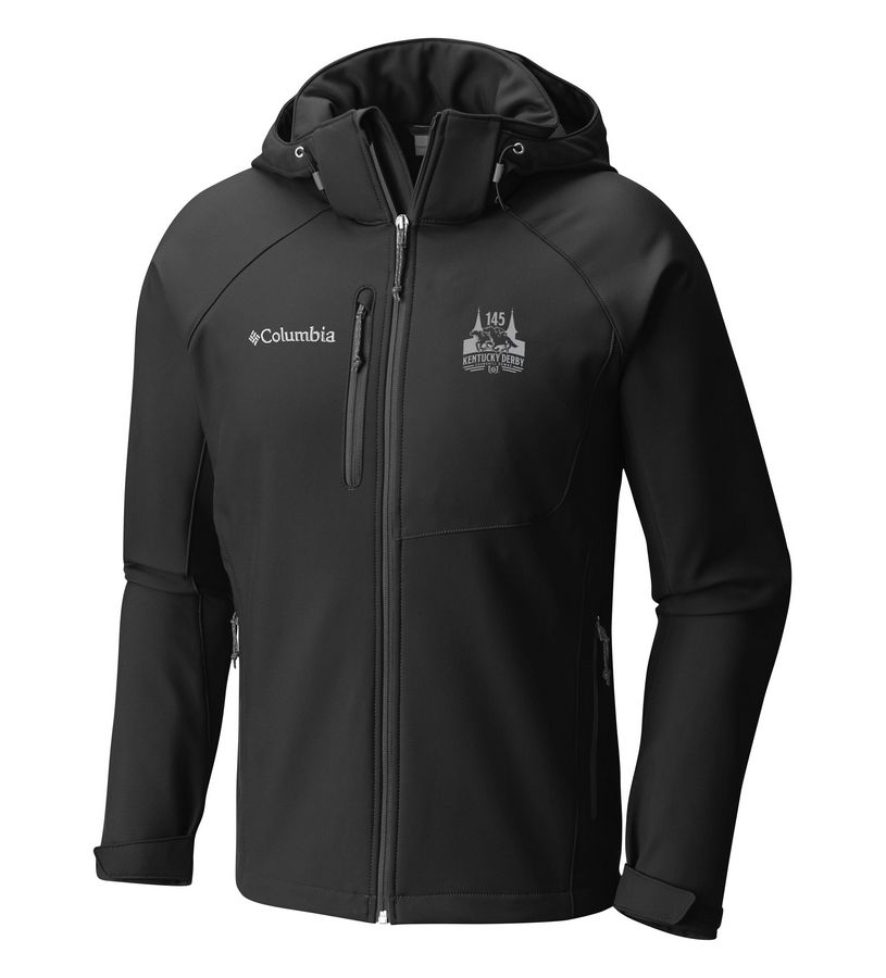 Kentucky Derby 145 Cascade Ridge Softshell Full Zip Jacket,C1986MO-010-BLACK