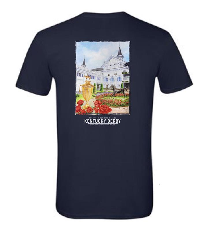 2019 Art of the Derby Tee,Kentucky Derby 145-2019 Art of the Derby,AOTD TEE