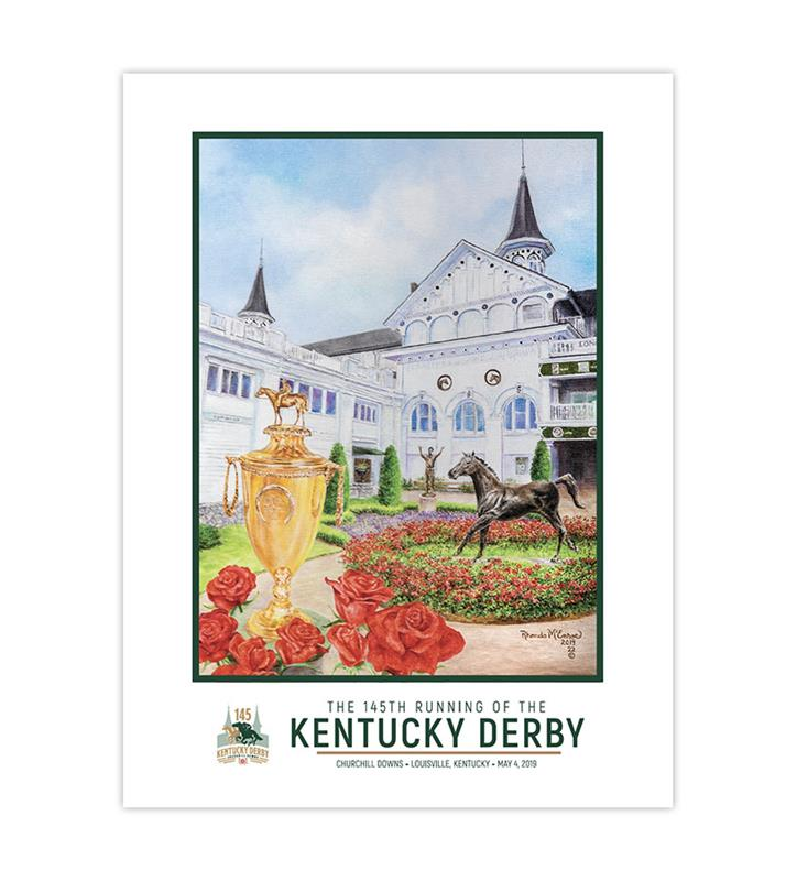 2019 Art of the Derby Poster,Kentucky Derby 145-2019 Art of the Derby,AOTD POSTER 18 X 24