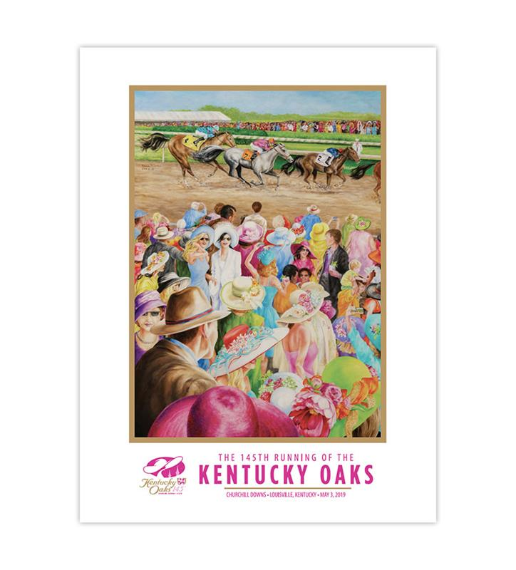 2019 Art of the Oaks Poster,Kentucky Derby 145-2019 Art of the Derby,AOTO POSTER 18X24
