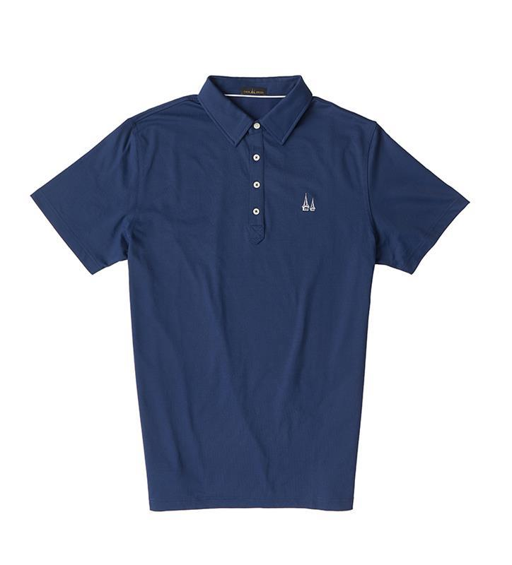 Churchill Downs Spires Logo Solid Polo Shirt,Twin Spires Collection,IS72400-NAVY