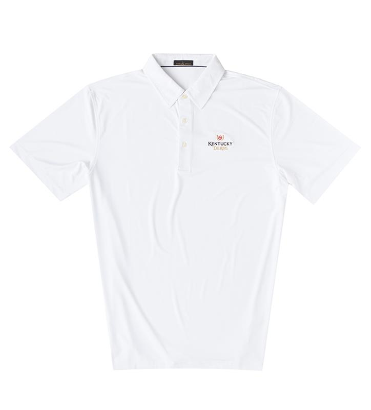 Kentucky Derby Logo Solid Polo,Twin Spires Collection,IS26000-WHITE