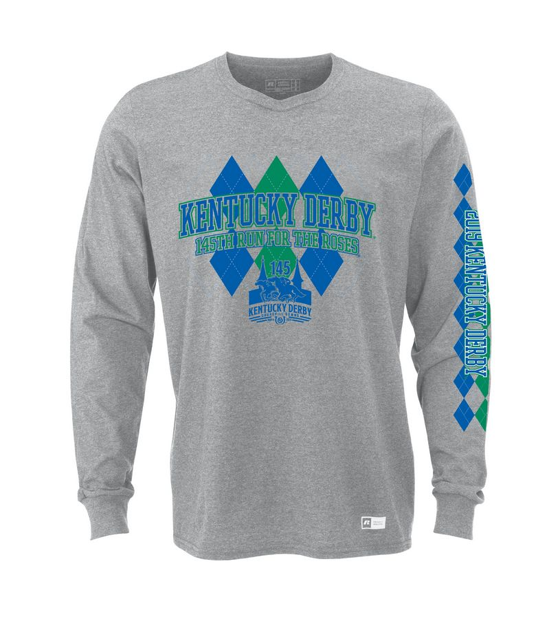 Kentucky Derby 145 L/S Argyle Tee,64LTTMO145RA14-PJ88