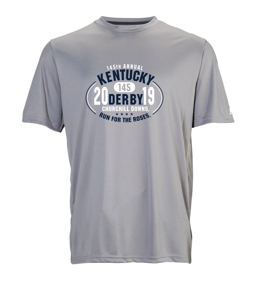 Kentucky Derby 145 Oval Performance Tee,629X2M1-145RA18-PRO4