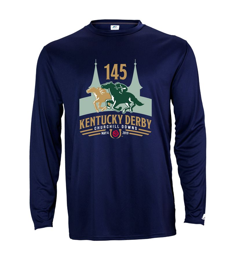 Kentucky Derby 145 L/S Performance Tee,631X2M1145RA23-145LO