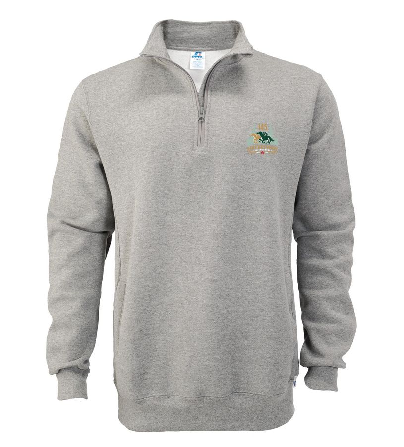 Kentucky Derby 145 Fleece 1/4 Zip Pullover,1Z4HBMO145RA33-145LO
