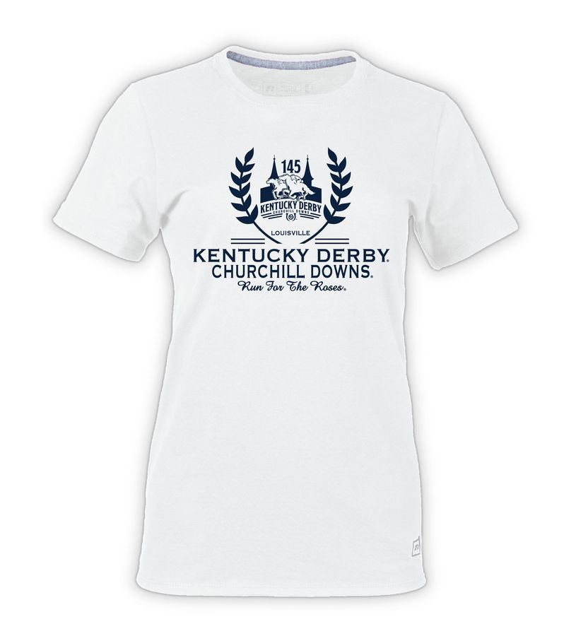 Kentucky Derby 145 Ladies' Laurel Tee,64STTXO145RA34-PRO13