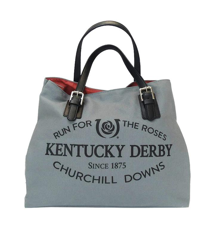 Kentucky Derby Racing Tote by Rebecca Ray,Rebecca Ray,RR3078-GRAY/NANTUCKE