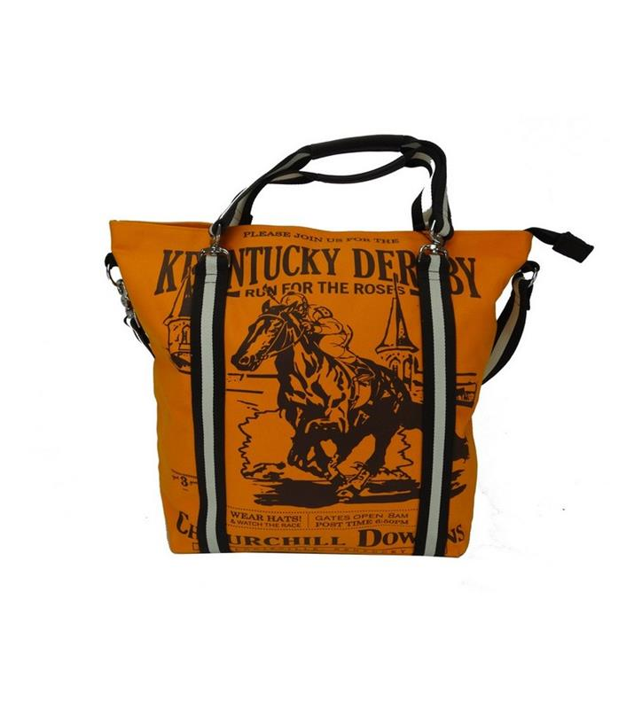 Mary Ann Tote by Rebecca Ray,Rebecca Ray,RR3077-ORANGE/FOREST