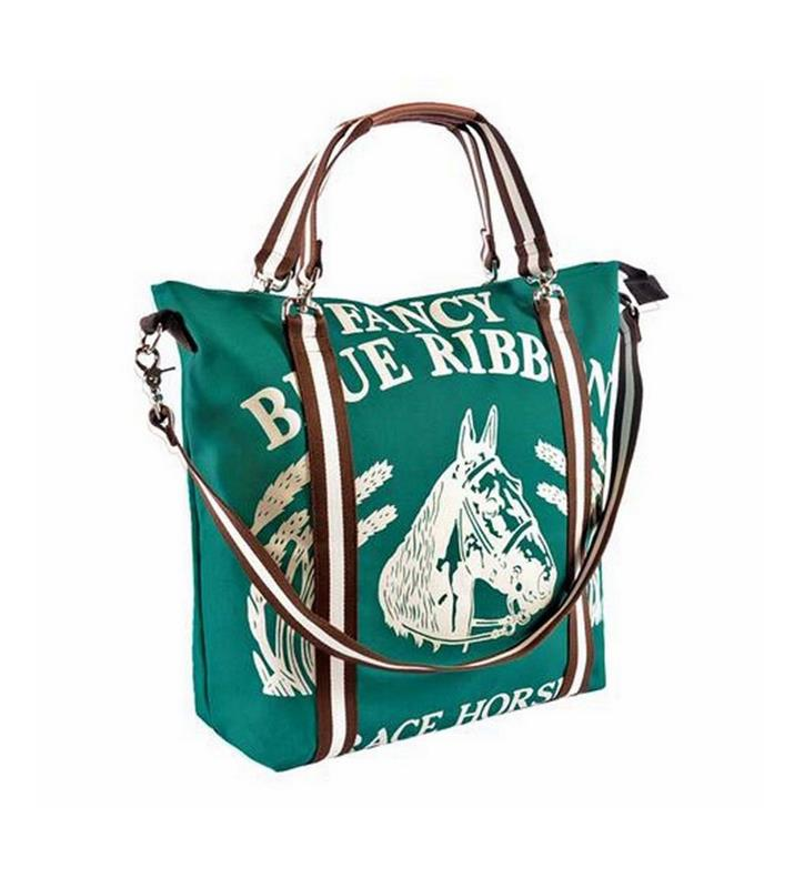 Fancy Blue Ribbon Mary Ann Tote by Rebecca Ray,Rebecca Ray,RR2000-GREEN