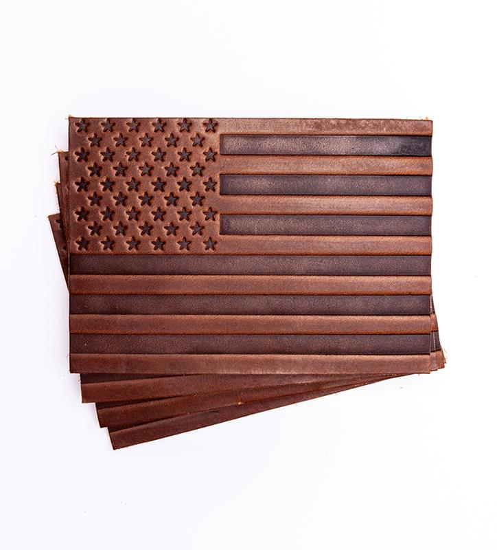 'Merica Leather Coasters by Clayton & Crume,'MERICA COAST