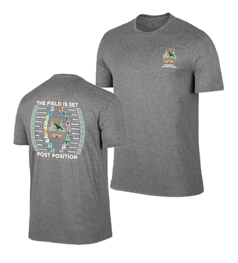 Kentucky Derby 145 Post Position Tee,GRAPHITE HEATHER