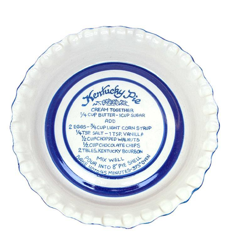 Kentucky Pie Thumb Print Pie Plate by Louisville Stoneware,Louisville Stoneware,KPIED970