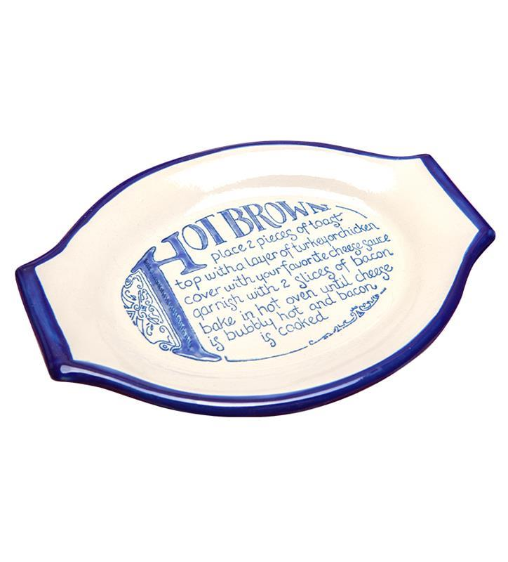 Hot Brown Baking Dish,Louisville Stoneware,HBBBD038