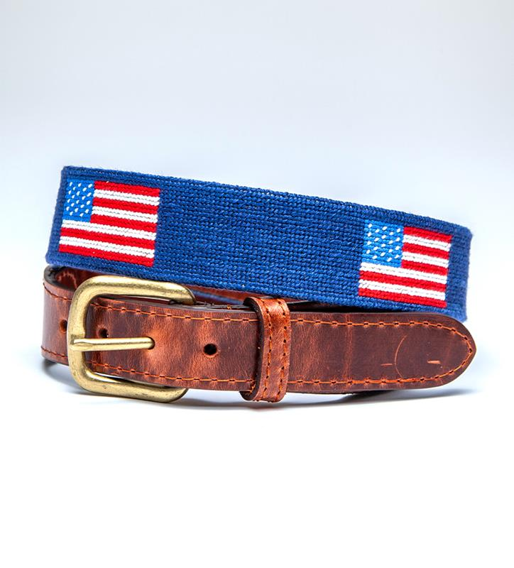 American Flag Belt by Smathers & Branson,Smathers & Branson,AM FLAG BELT