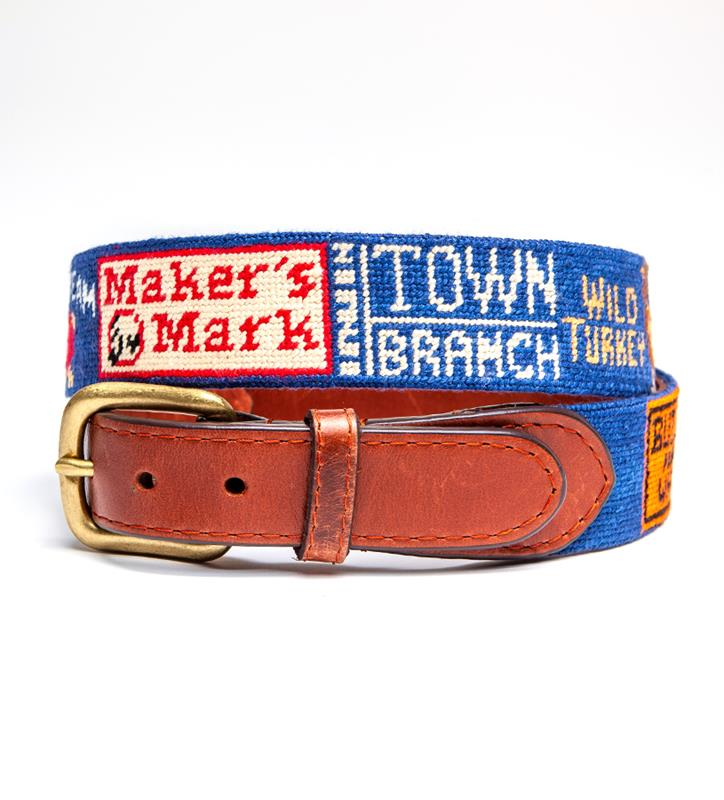 Bourbon Trail Belt by Smathers & Branson,Smathers & Branson,BOURBON TRAIL BELT