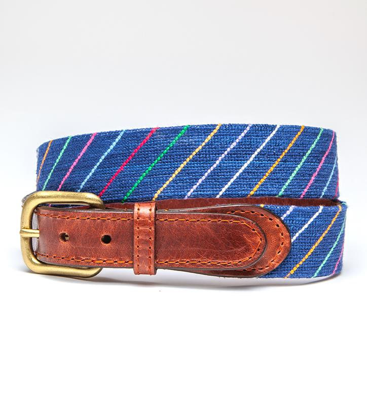 Carter Stripe Belt by Smathers & Branson,Smathers & Branson,CARTER STRIPE BELT