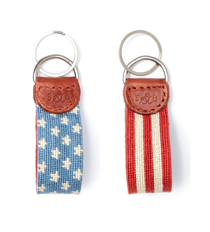 Old Glory Key Fob by Smathers & Branson,OLD GLORY KEY FOB
