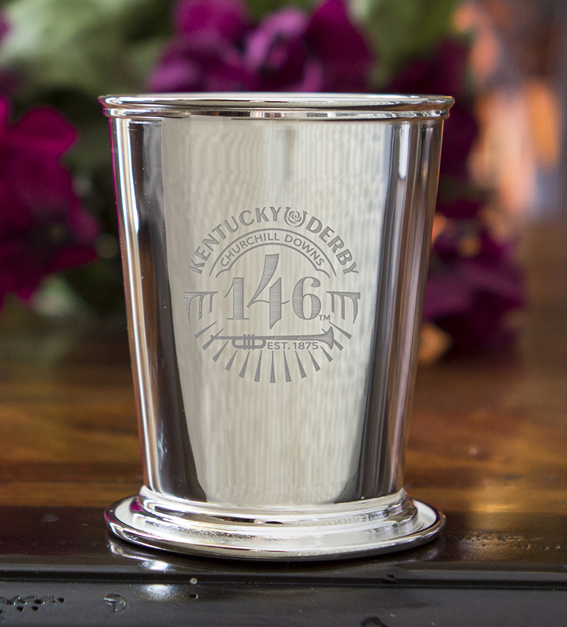 Kentucky Derby 146 Etched Mint Julep Cup,58-010 LT ETCH 8 OZ
