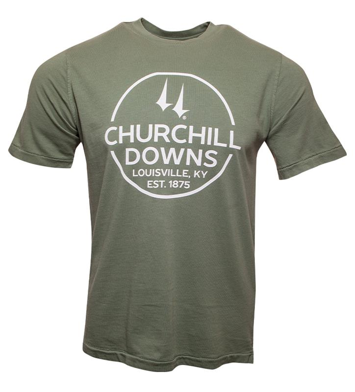 Churchill Downs Circle Tee,AS38-4840-DOWNS#004